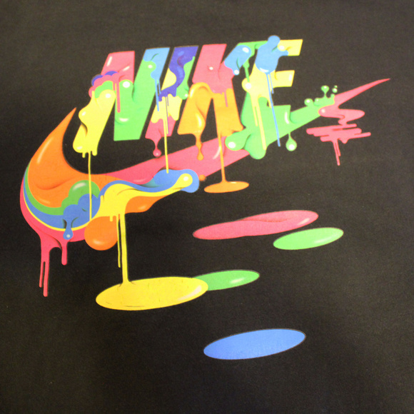 Nike Logo Tee Shirt Paint Dripping Retro Unisex